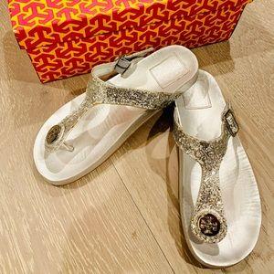 Tory Burch Metallic Leather Sandal